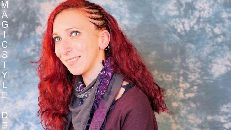 Steffi: Halbe Open Cornrows mit Thermofiberhaar Magic Style Heat in Loos...