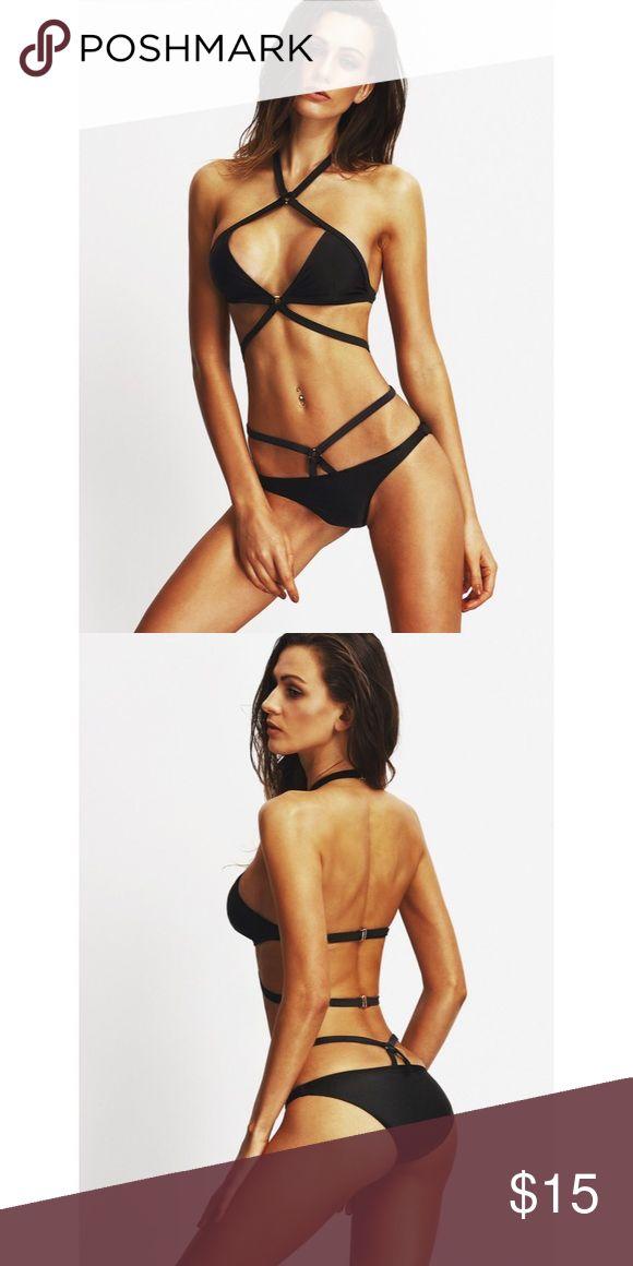 2 Piece Swimsuit NWOT ✨NWOT✨  Sexy wrap around 2 piece swimsuit. Runs small.  * Waist Size: 80cm  * Bust: 78 - 88cm Swim Bikinis