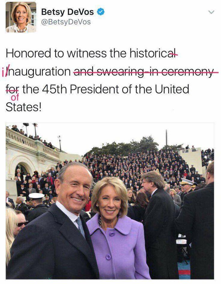 Trump's choice for Secretary of Education