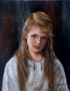 Girl with Light Brown Hair To purchase a reproduction, go to: http://fineartamerica.com/featured/girl-with-long-brown-hair-sylvia-castellanos.html