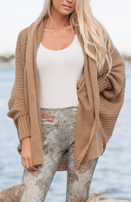 A cozy nude cardigan that'll come in handy when you're freezing in the office but don't want to ruin your outfit