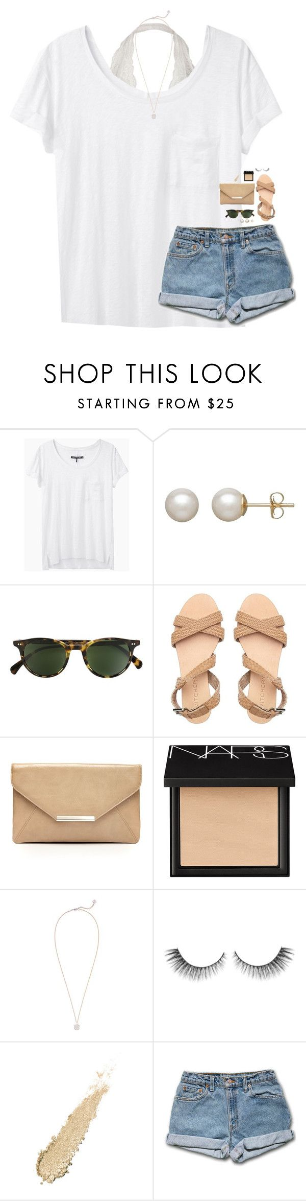 """""""ivy league tshirts are so cute!"""" by classynsouthern ❤ liked on Polyvore featuring rag & bone, Honora, Oliver Peoples, Style & Co., NARS Cosmetics and Kendra Scott"""