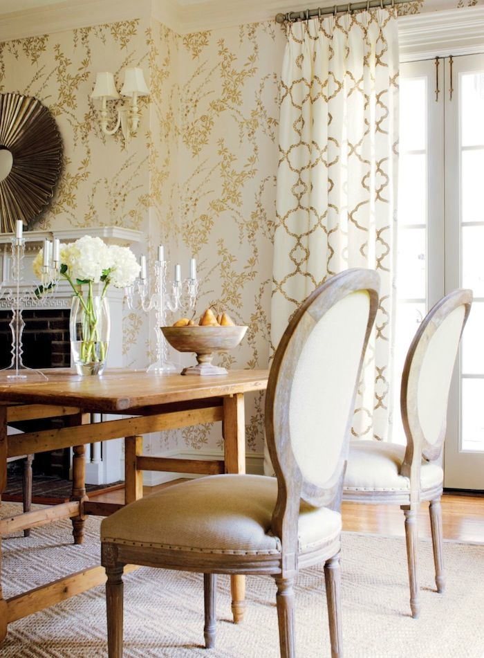 Love The Chair Finish Gold CurtainsNeutral CurtainsWhite Dining RoomsEmbroidery FabricWallpaper IdeasRoom