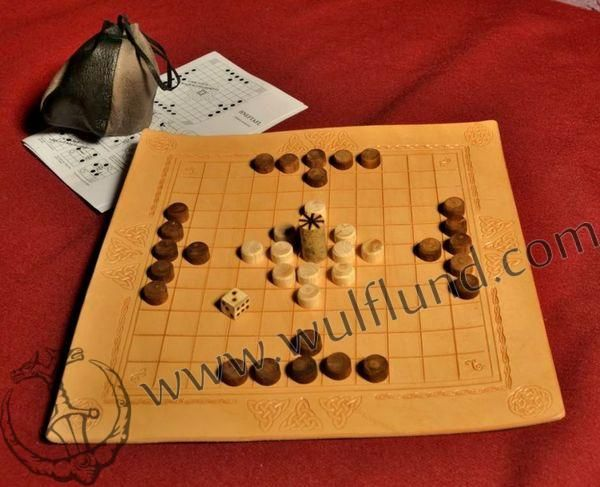 Tafl or Hneftafl is an old Scandinavian board game for two players. The game simulates the viking raid  - four attacking viking drakkars against the king and his defenders. This game teaches young jarls to go for their goal and to sacrifice everything to its purpose, while knowing that unnecessary waste of lives of the defenders can be disastrous in the end.  Your Price: 29.00 €