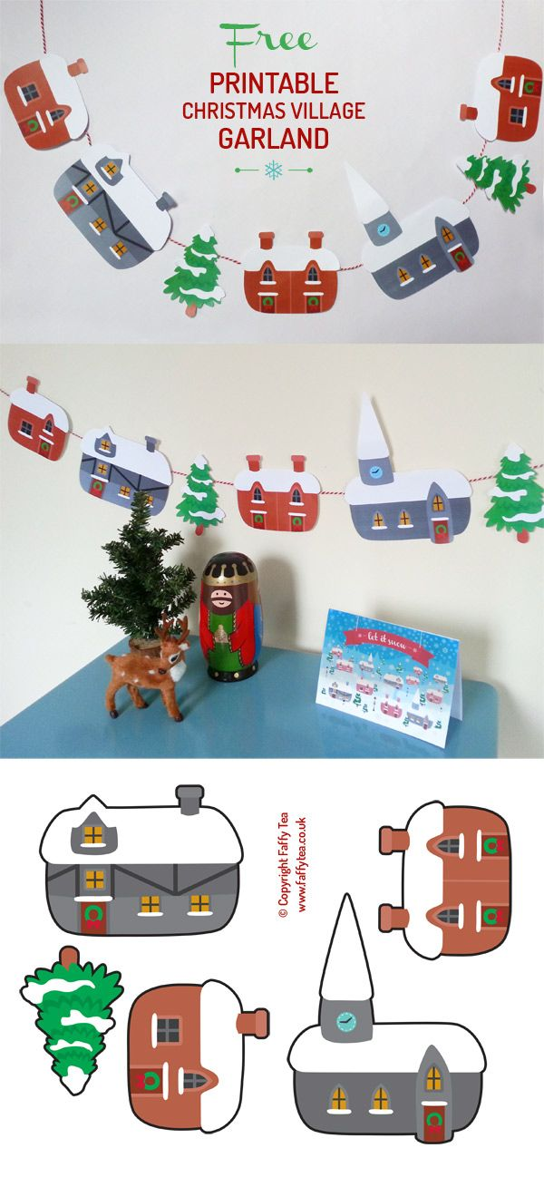 free christmas crafts printables