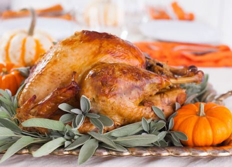Alton Browns brined turkey recipe. Hands down the BEST recipe. You brine the turkey the night before then only cook. For 3 hours the next day.