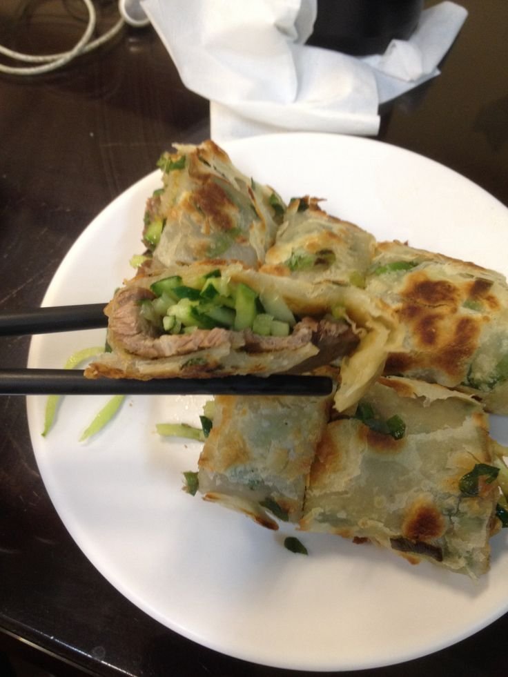 New discovery in zhongshan Taipei Beef onion pancake 90nt. I should do this full time 牛肉卷餅