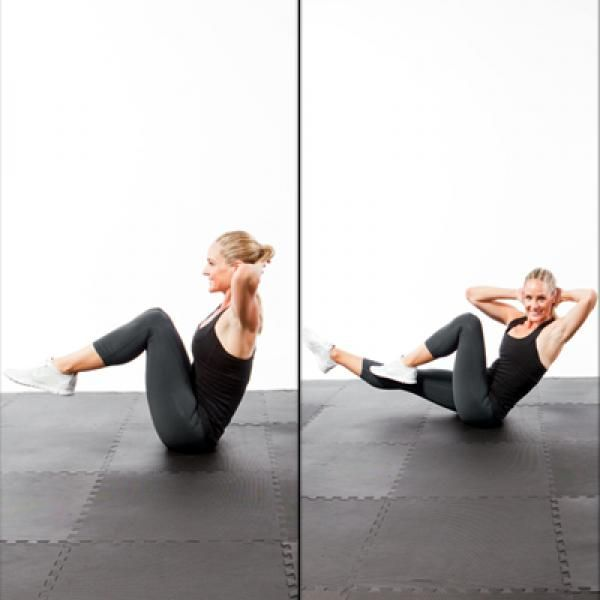 Three-Way Plank - Fast Abs Workout: 5-Minutes to a Flat Stomach - Shape Magazine