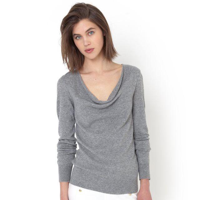 Image Sweter, 100% wełny kaszmirowej, dekolt typu woda R essentiel