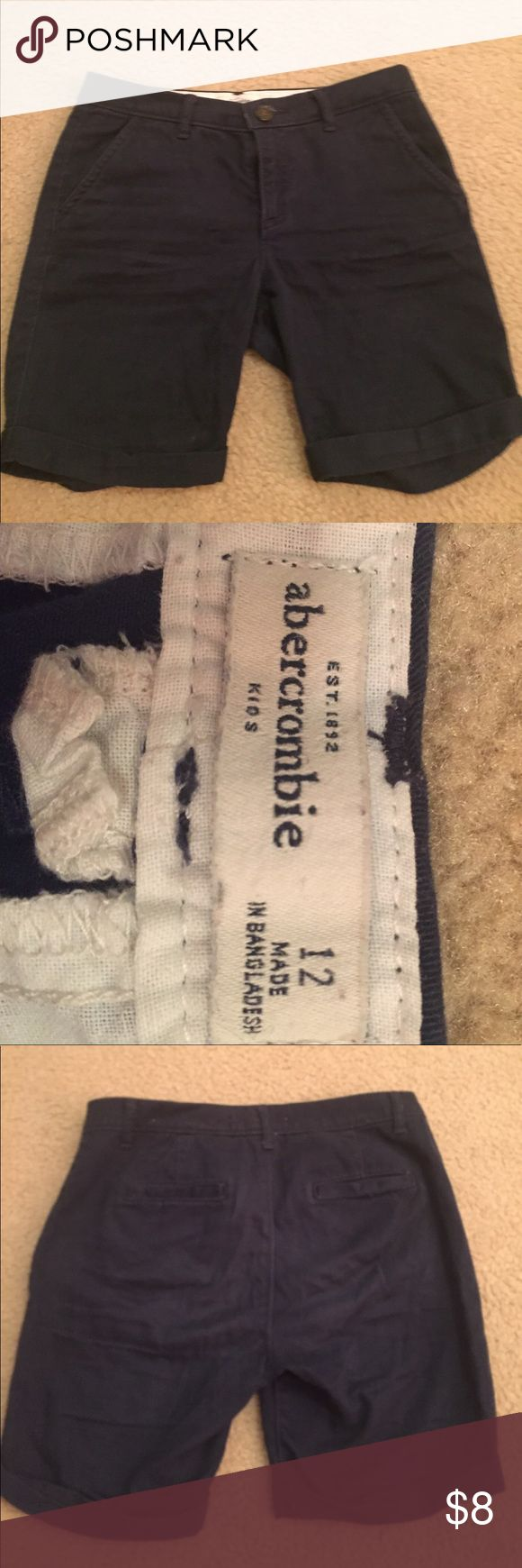 Girls Abercrombie kids navy blue uniform bottoms I have 4 Abercrombie kids navy blue uniform bottoms that are $8 each or $25 for all 4. They are all a size  girls size 12. In good condition!! Abercombie Kids Bottoms