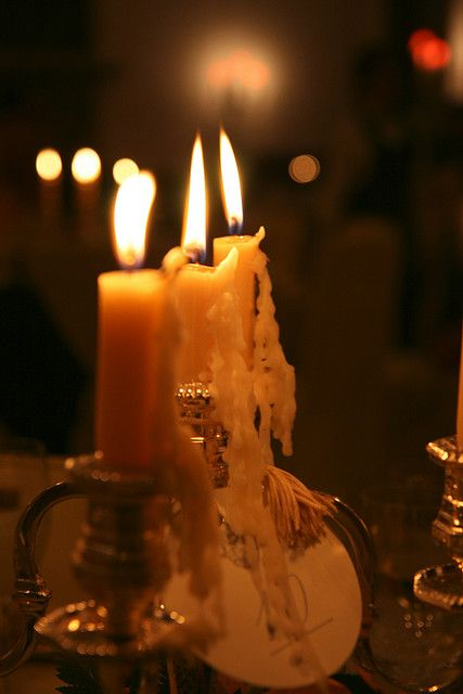 A room full of candlelight...
