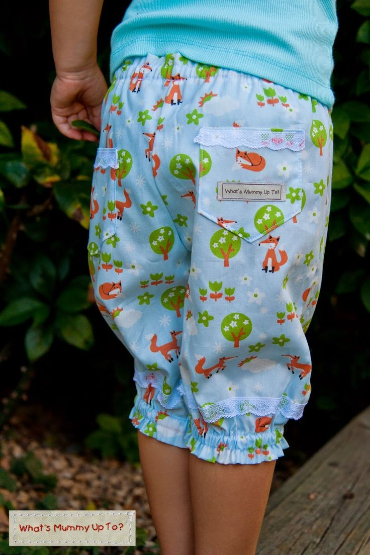 What's Mummy Up To ...: Free Tutorial: Foxy-Loxy Lacey Pants