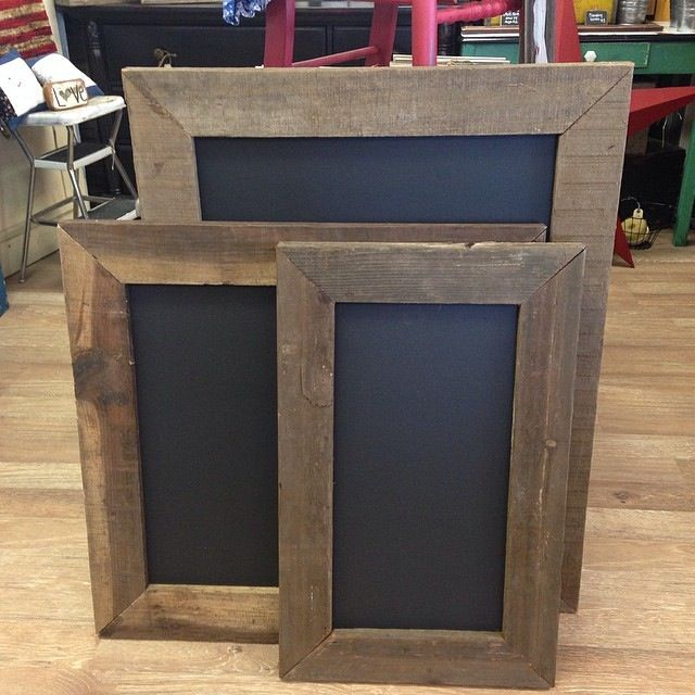 Brilliant Chalk Board and Barn Board Combo.  Redo fridge in chalk board !!! In motor home