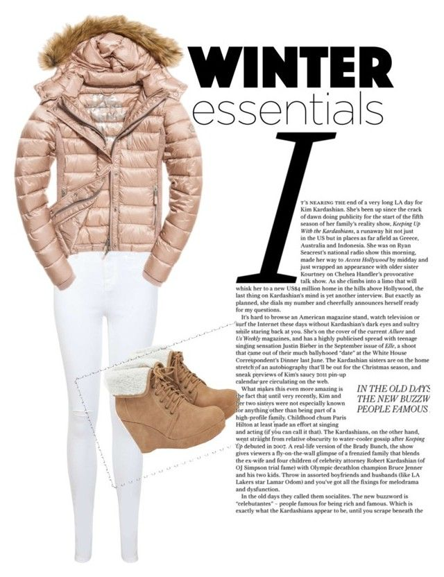 """Snow"" by vensku on Polyvore featuring Miss Selfridge, JustFab and Fuji"
