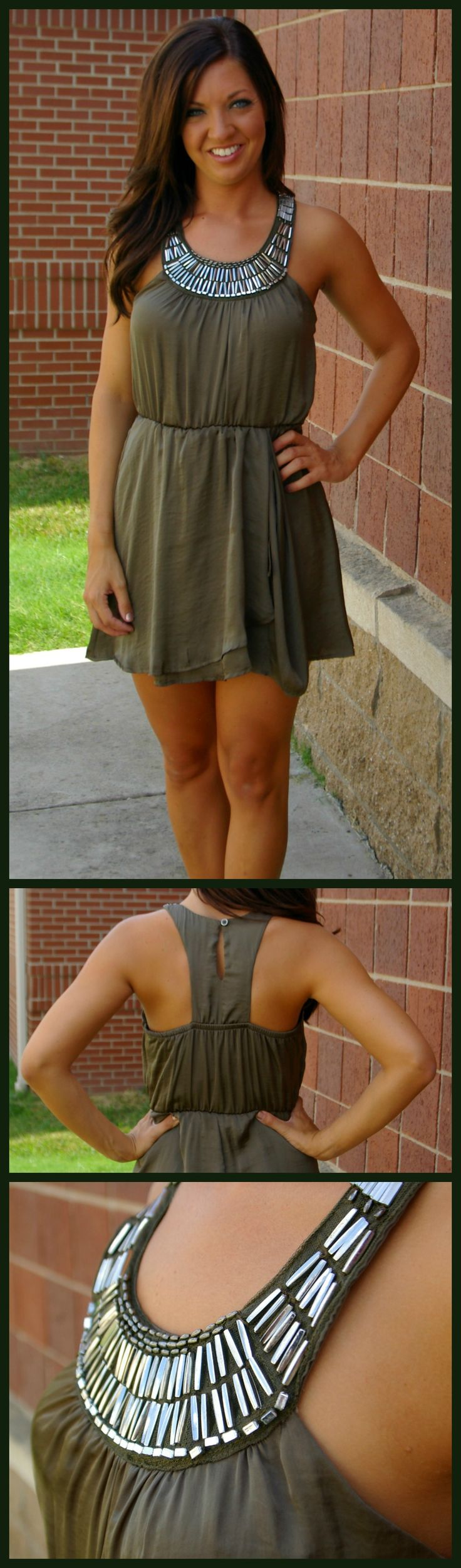 This is a perfect summer dress! $43.00 Click here to find it online: http://amaranthcollection.com/collections/dresses/products/olive-you-too-dress