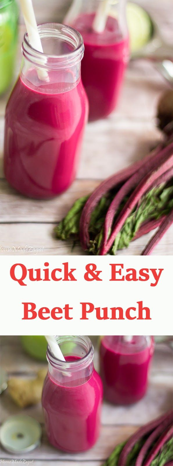 An easy recipe for making the Caribbean favorite of Beet root punch made with milk and a hint of ginger and lime juice.