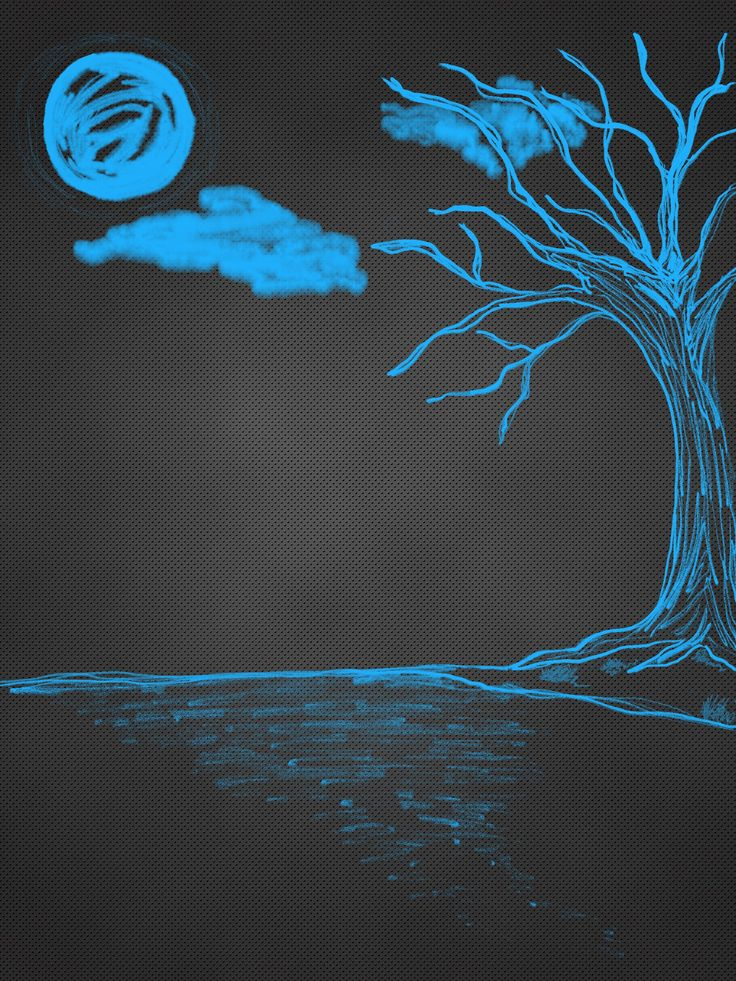 My first try using Zen Brush 2, I love images of trees: )