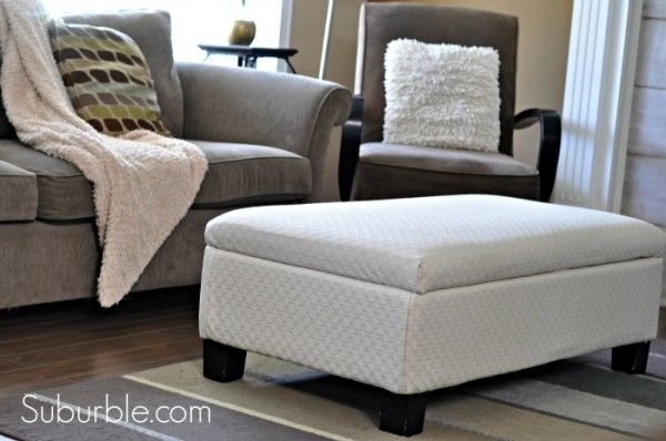 Do It Yourself A No Sew Way To Recover An Ottoman