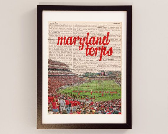 Maryland Terps Dictionary Art Print  College Park by DictionArt