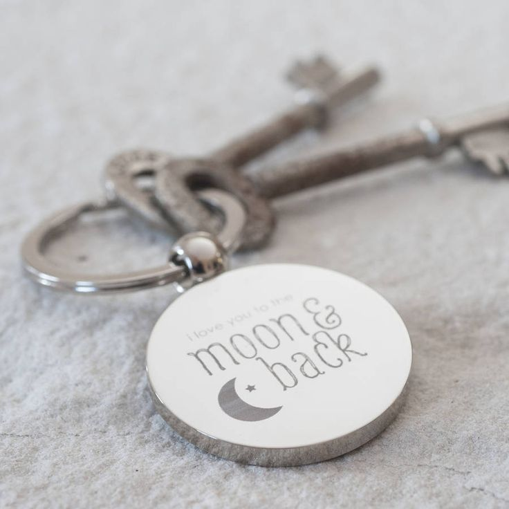 'moon and back' keyring by oh so cherished | notonthehighstreet.com