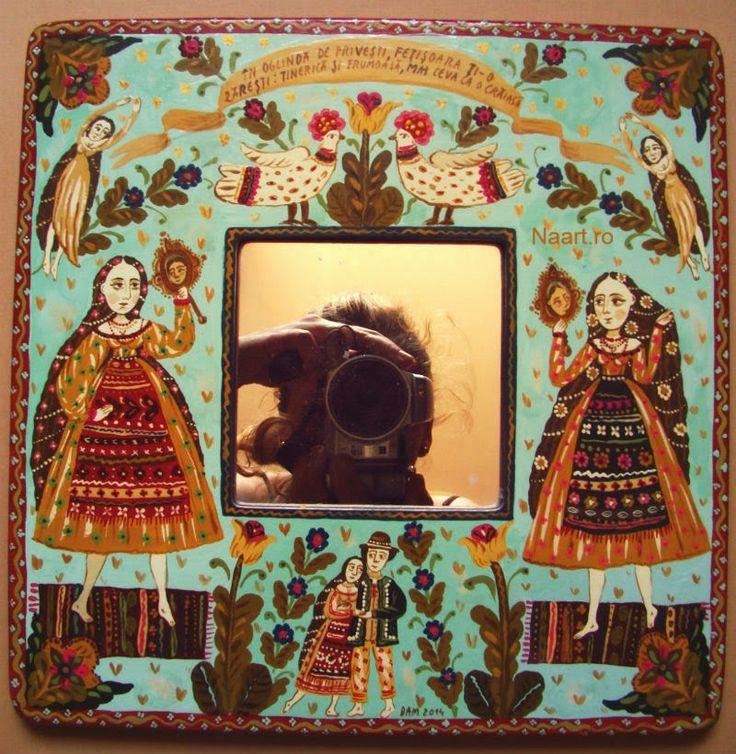 Folk tale #folkart #fairytale #naiveart #mirror