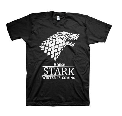 >> Click to Buy << Game of Thrones Snowy Stark Wolf Direwolf HOUSE STARK T Shirt Winter Is Coming Cotton Cosplay Costume Summer Style T-shirt #Affiliate