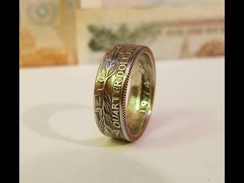 How to Make a Silver Morgan Dollar into a Coin Ring (abridged) Full version in description - YouTube