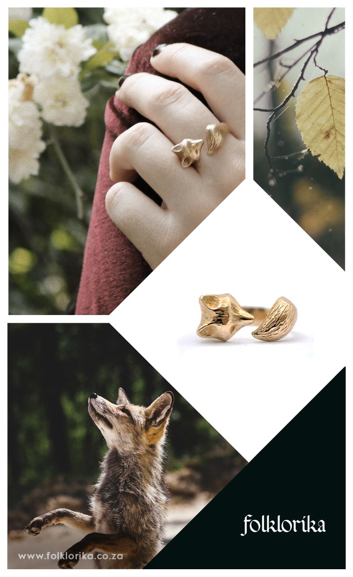 FREE SHIPPING on Etsy! Bronze Fox Ring by Folklorika, via Etsy. Folktale inspired jewelry by Folklorika. #jewellery #jewelry #jewelryinspiration #bronze #golden #forest #folklore #typography #logo #font #emeraldgreen #green