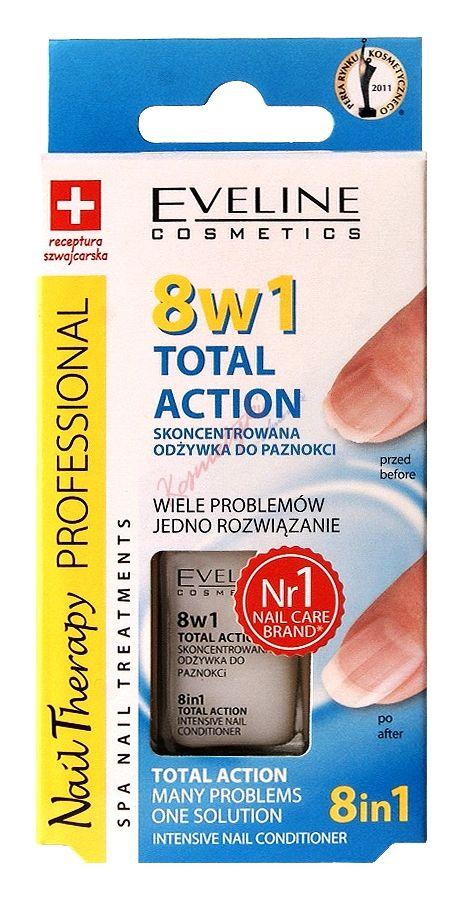 Eveline Cosmetics 8 w 1 Total Action Skoncentrowana Odżywka Do Paznokci