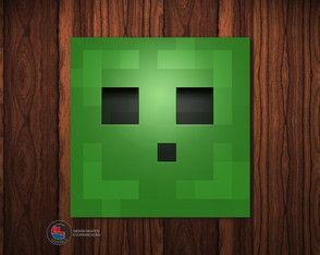 Adesivo Caixa Acrílica Slime Minecraft