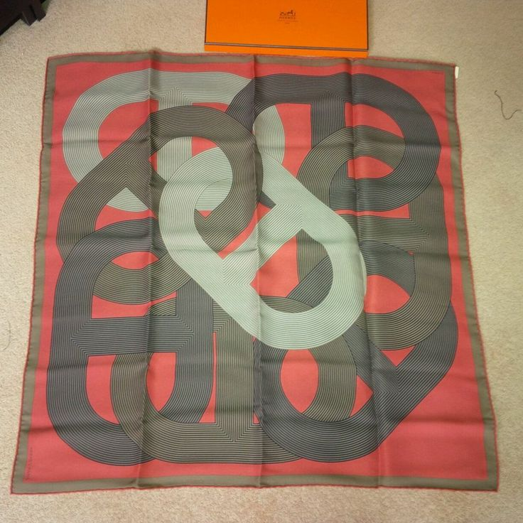 100% Authentic HERMES Silk Scarf