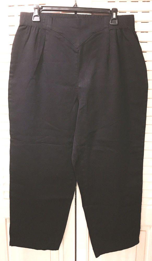Denim & Co. Black Cropped Pants Size 1X    eBay