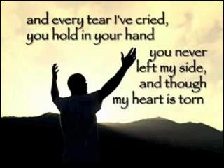 I'll praise You in the storm and I will lift my hands. You ...