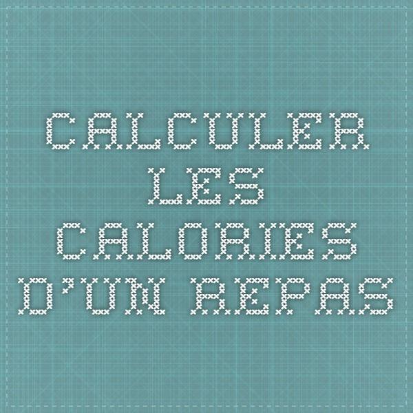 Calculer les calories d'un repas