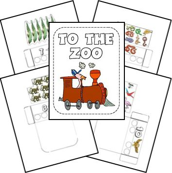 1, 2, 3 -- To the Zoo Matching Game amazing sight with loads of lap book printable for ur homeschooling needs   enjoy
