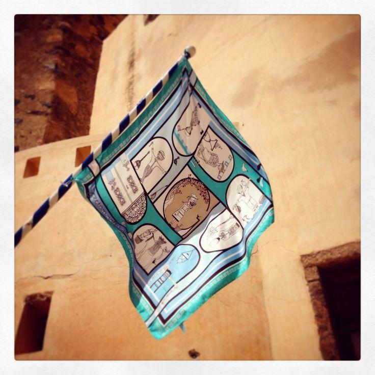 """""""Grecian Village"""" silk scarf by Grecian chic!"""
