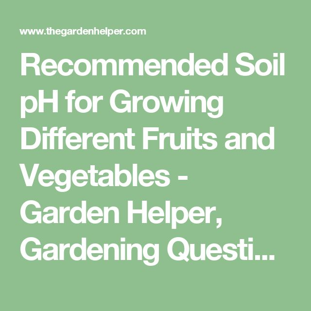 The  Best Soil Ph Ideas On   Garden Soil Vegetable