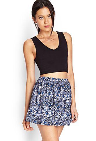 Fresh Floral Skater Skirt | FOREVER 21 - 2000068870