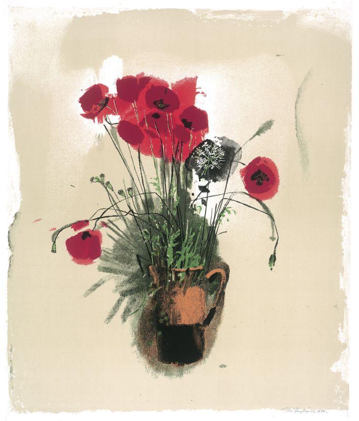 Poppies. Lithography. Georgis Varlamos.