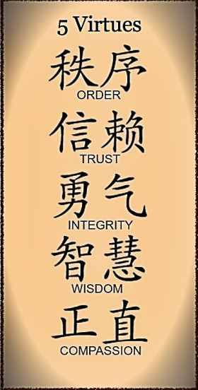 5 Virtues Medical Qigong Nashville Repinned by www.academ.nl/ & www.medischeqigong.com #qigong #acupuncture #health