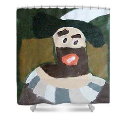 Patrick Francis - Shower Curtain featuring the painting Rembrandt 2014 - After Rembrandt Self-portrait by Patrick Francis