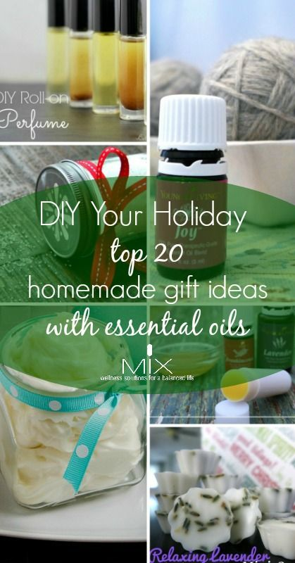 DIY Your Holiday: Top 20 Homemade Gift Ideas with Essential Oils | www.mixwellness.com #DIY #essentialoils