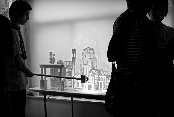Showcase at the Mere Phantoms studios in Montreal. #light #shadow #papermodels, @mayaersan