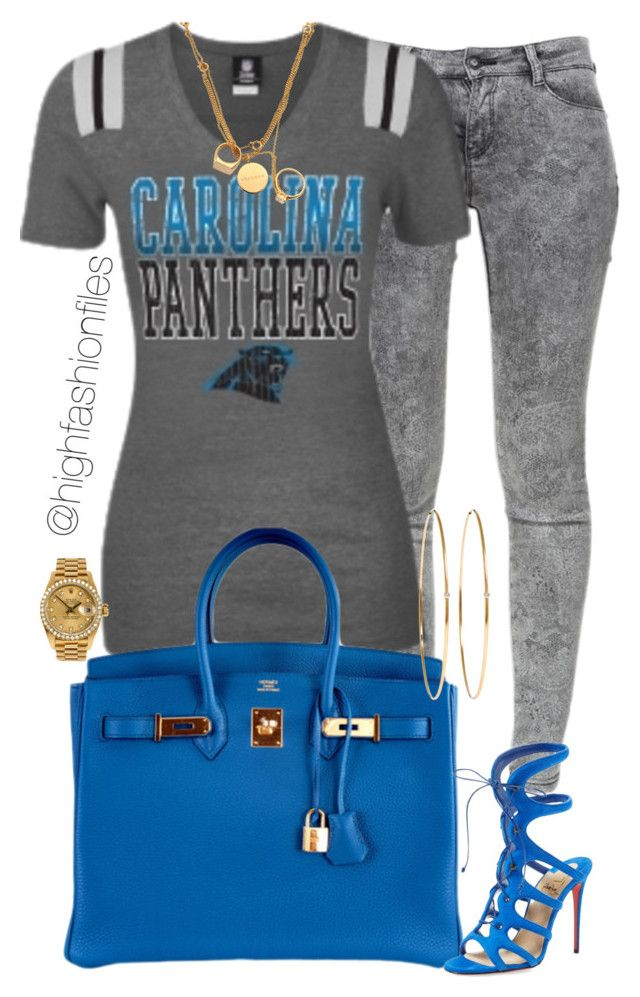 """Super Bowl 50"" by highfashionfiles on Polyvore featuring Zara, Hermès, Christian Louboutin, Jennifer Meyer Jewelry, Rolex, Maison Margiela, women's clothing, women, female and woman"