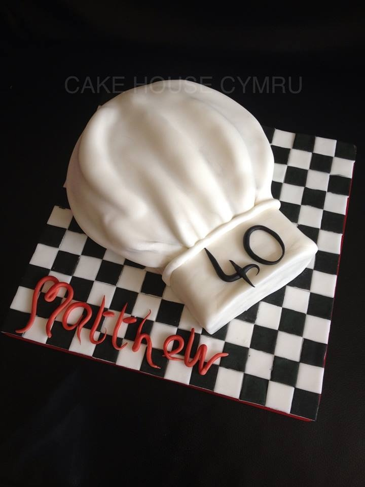 40th Birthday Cake - #Chef's Hat Cake 40Th Birthday Cake, Birthday ...