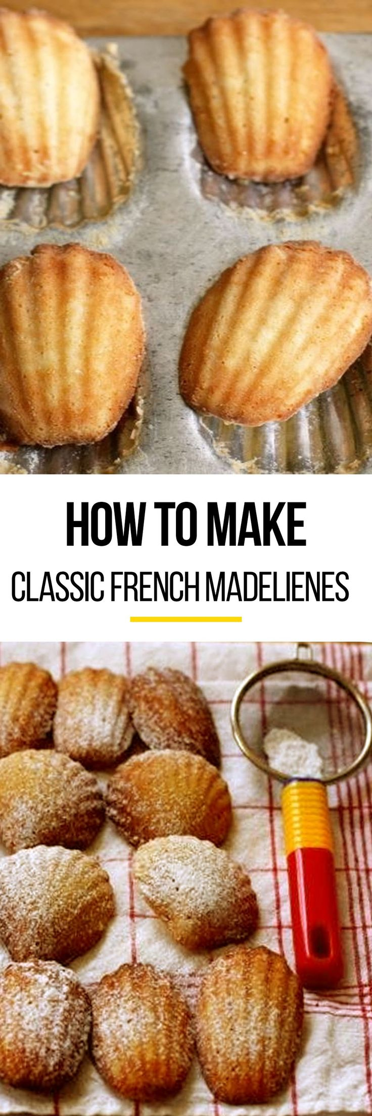 This recipe for the classic french madeleines is for the more experienced cook. Madeleines are delicious when cooled down from a nice cozy oven. To make these sweet treats, you'll need unsalted butter, white sugar, all-purpose flour and lemon zest.