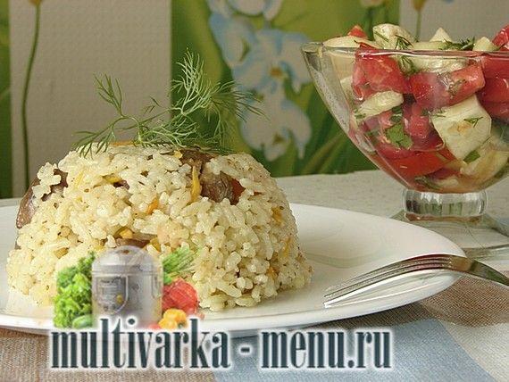 Рис в мультиварке с печенью