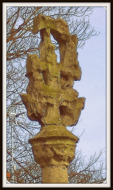 This is the Kilnsea Cross  - a 14th 15th Century relic - located in Holyrood House Care Home grounds in Hedon.