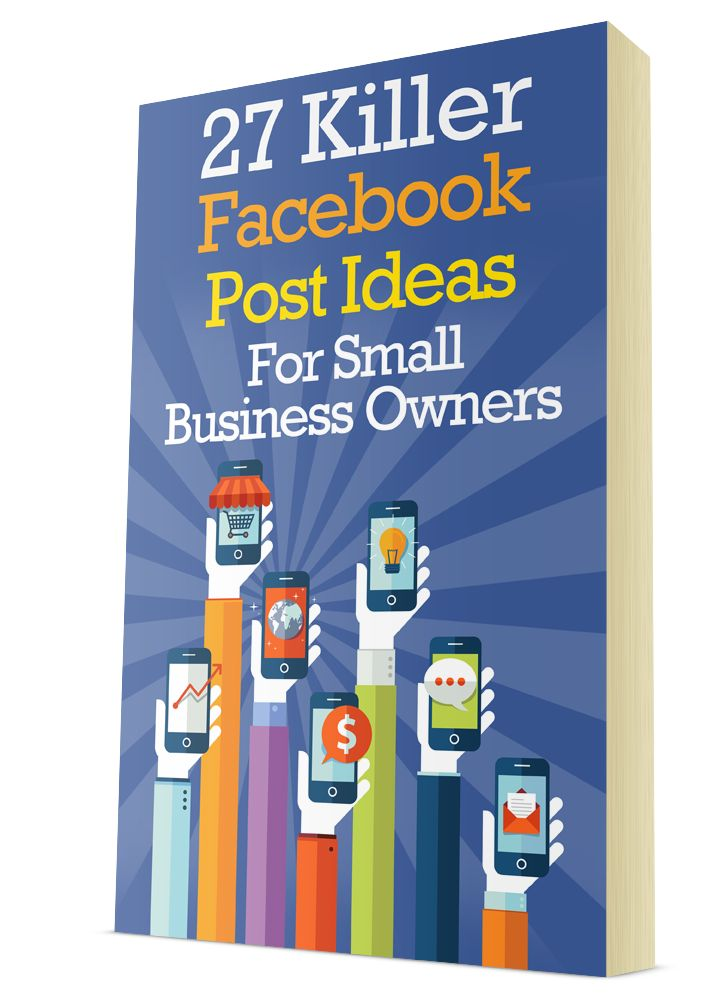 Swipe these 27 Facebook Post Ideas For Small Business Owners http://mybookmarklet.com/Dominate-Facebook