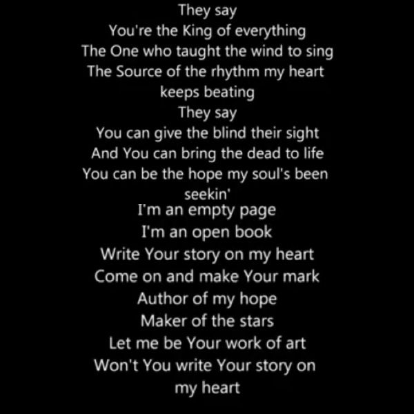 Write your story song